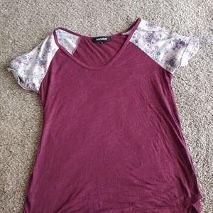 Floral sleeved top